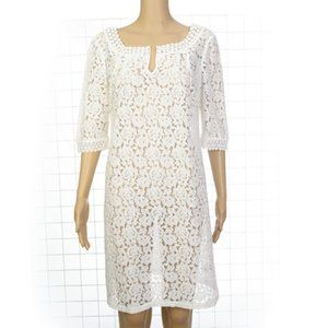 Dress or Swimsuit Cover-up  White Lace NWT